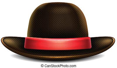 kapelusz, brązowy