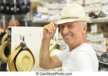 kapelusz, człowiek