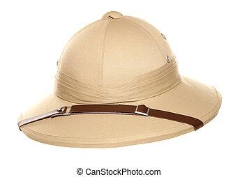 kapelusz, dżungla, safari