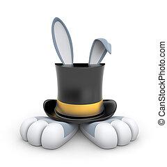 kapelusz, królik
