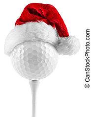 kapelusz, piłka, golfowy trójnik, święty