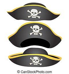 kapelusz, pirat, odizolowany