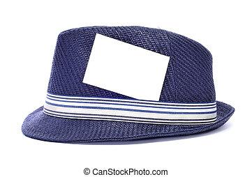 kapelusz, z, niejaki, czysty, etykieta