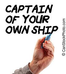 kapitän, schiff, hand, dein, strategie