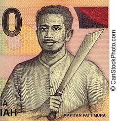 Kapitan Pattimura on 1000 Rupiah 2000 Banknote from ...