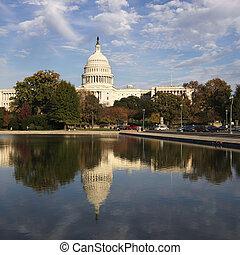 kapitol budowa, waszyngton, dc.