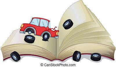 kapot, open, auto, storybook