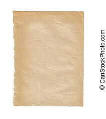 kapot, papier, oud, textuur