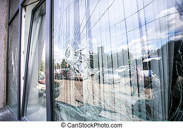 kapot, venster, glas