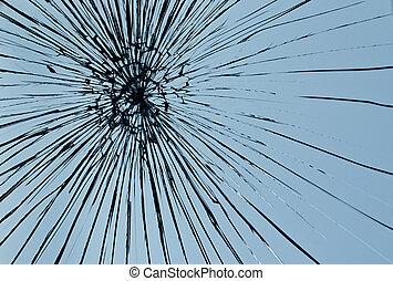 kapot, venster glaswaar