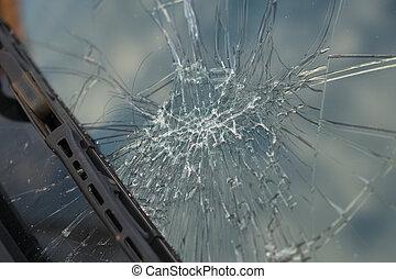 kapot, windscherm