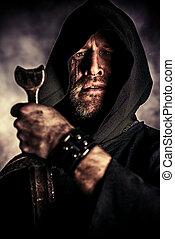 kapot, zwaard