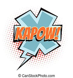 kapow comic word
