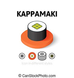 Kappamaki icon in different style