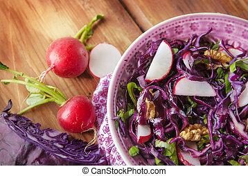 kappes, rotes , salat