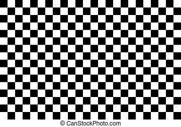 kapplöpning bil, pattern., seamless, struktur, bakgrund., vektor, svart, schack, vit, sport