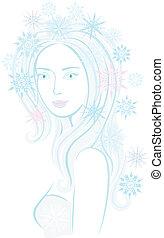 kaprys, płatek śniegu, panna