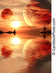 kaprys, zachód słońca