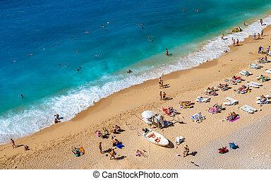 Kaputas beach, one of the best beaches in Turkey, Mediterranean sea.