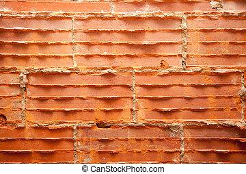 Kaputte , Ziegelsteine, In, Brickwall, In, Wand, Wiederherstellung