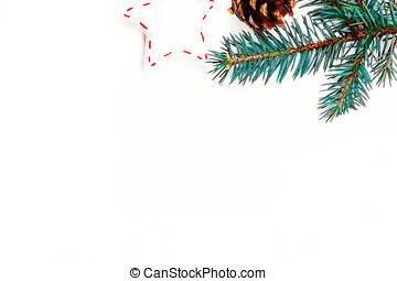 karácsony, ünnepek, háttér, noha, ünnepies, dekoráció, és, tehetség ökölvívás, white, wooden élelmezés, noha, másol világűr, helyett, -e, szöveg