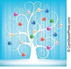 karácsony, apró, és, fa