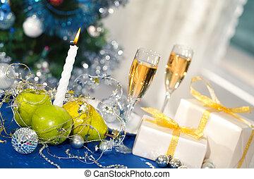 karácsony, asztal