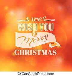 karácsony, calligraphic, kártya, -, helyett, meghívás, gratuláció, -, alatt, vektor