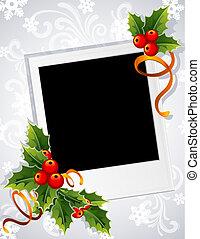 karácsony, fénykép keret