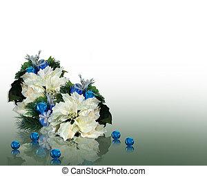 karácsony, fehér, mikulásvirágok
