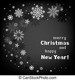 karácsony, fekete, örvény, háttér