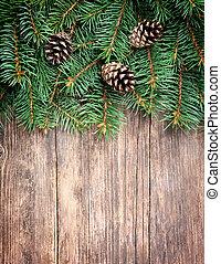 karácsony, fenyő fa, képben látható, egy, fából való, háttér