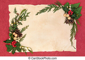 karácsony, floral határ