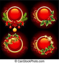 karácsony, gombok