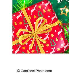 karácsony, gyerekek, fél, tervezés