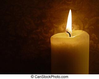 karácsony, gyertya, éjjel, noha, halmok, közül, hely, helyett, szöveg