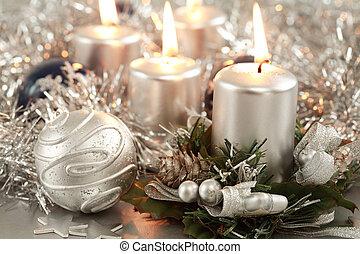 karácsony, gyertya