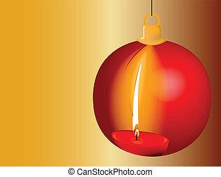 karácsony, gyertya, visszaverődés