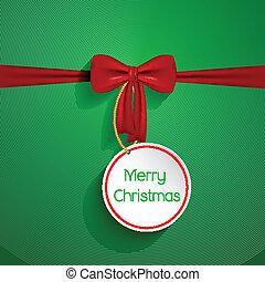 karácsony, háttér, íj