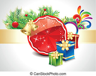 karácsony, háttér, elvont