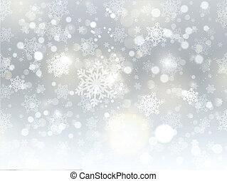 karácsony, háttér, hópehely