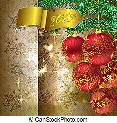 karácsony, háttér, noha, christmas dekoráció