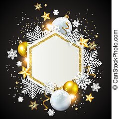karácsony, háttér, noha, decorations.