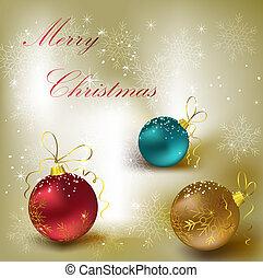 karácsony, háttér, noha, dekoráció