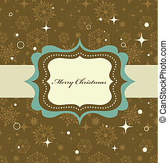 karácsony, háttér, noha, retro, motívum, és, keret