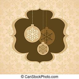 karácsony, háttér, noha, retro, motívum