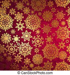 karácsony, háttér, noha, snowflakes., eps, 8