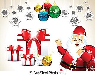 karácsony, háttér, szent