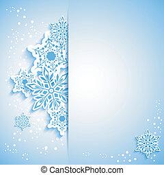 karácsony, hópehely, köszönés kártya