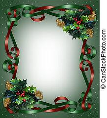 karácsony, határ, gyeplő, és, magyal